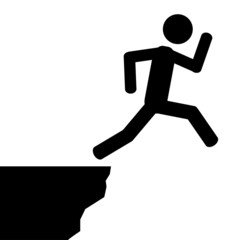 Jump from cliff