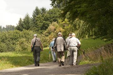 Ältere Menschen Wandern