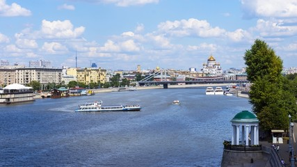Gorky Park (view from St. Andrew's Bridge), Moscow