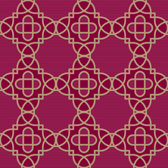 Traditional strict pattern with a geometrical ornament.