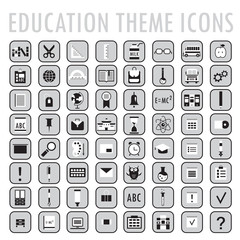 Set of 64 education theme icons. Back to school