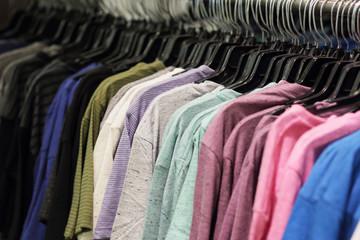 Shirts on a rack