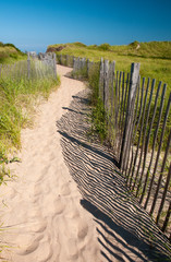 Path to Crescent Beach at Block Island, Rhode Island