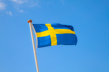 Flag in the sky