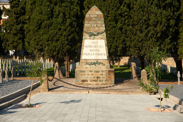 Memorial at the French part of the WWI Cemeteries, Thessaloniki