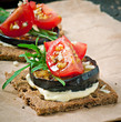 Vegetarian Diet Crispbread sandwiches