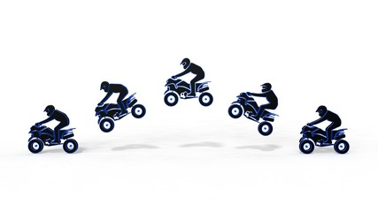 Quad bike on a white background