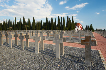 French part at the WWI Allied Cemeteries, in Thessaloniki