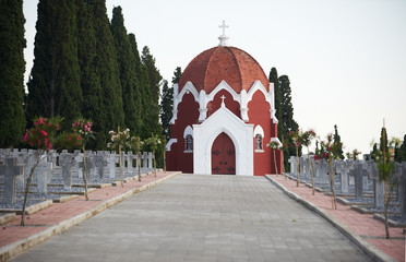 The Chapel at the French part of WWI cemeteries in Thessaloniki