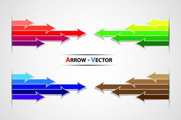 Colorful arrow vector symbol