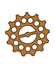 steampunk wheel vector illustration