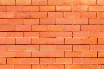 Beautiful pattern of red brick wall