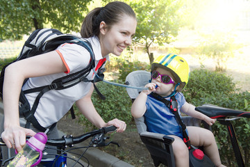 young family bike trip.