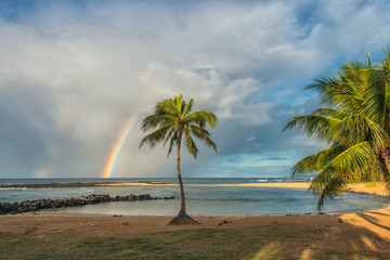 Poipu Beach Rainbow