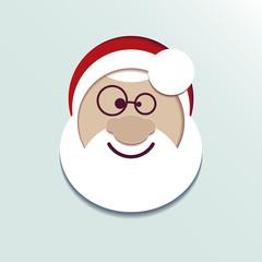 Paper head Santa Claus