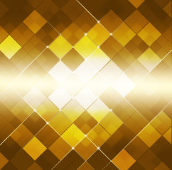 Abstract Square Dot Golden Background