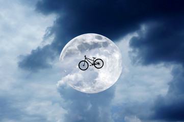 bicycle to the moon (concept and idea)