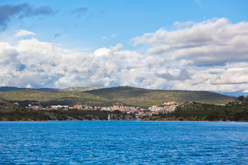 Sibenik bay, Croatia view from the sea