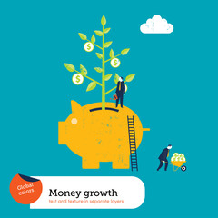 Money Plant in a Piggy Bank