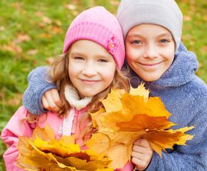 Children at autumn
