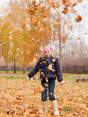 Girl at autumn