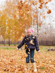 Girl at autumn