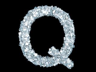 Gefrorener Buchstabe Q
