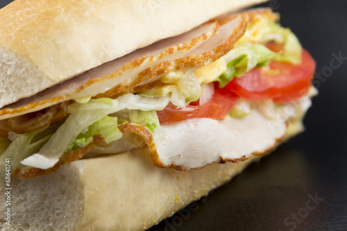 Deurstickers Picknick Turkey Sub