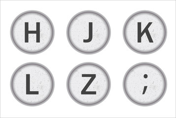 Typewriter Keys HJKLZ
