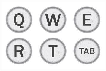 Typewriter Keys QWERT