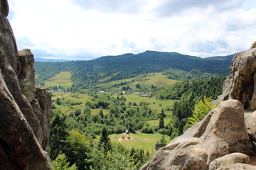 view to Carpathian mountains