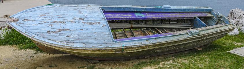 Destroyed old boat