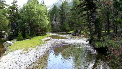 A high mountain river