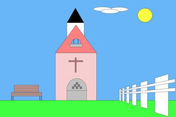Kleine Kapelle im Grünen