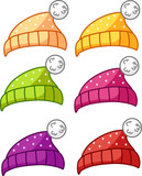 Set of 6 winter hats