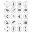 Vector of flat icon, mathematical symbols set