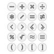 Vector of flat icon, mathematical symbols set