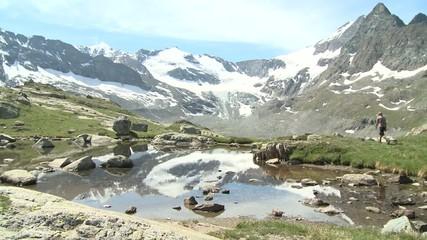 Marche lac montagne