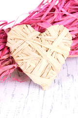Decorative straw for hand made and heart of straw,