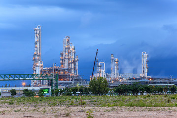 Oil refinery industrial