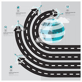 Travel And Journey Runway Business Infographic - 68644132