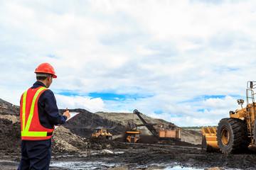 Worker in lignite mine