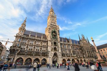 Marienplatz town hall square of Munich Germany