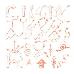 Hand drawn arrows