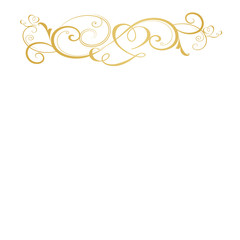 frame border background isolated golden pattern hearts