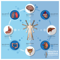 Health And Medical Infographic Infocharts Science Background