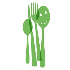 cutlery green
