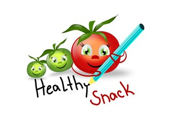 Healthy Snack with tomatoes