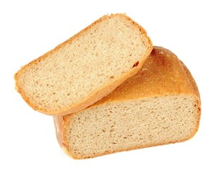 Wholemeal Bread Isolated on White Background