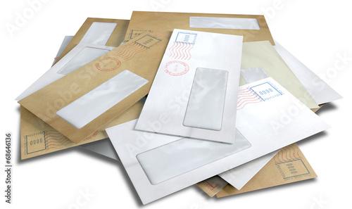 Leinwanddruck Bild Scattered Envelopes
